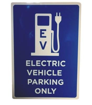 EV Parking only sign