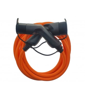 EV Power Type 2 to Type 2 Lead, 32 Amp, 3 Phase, 5m (orange cable)